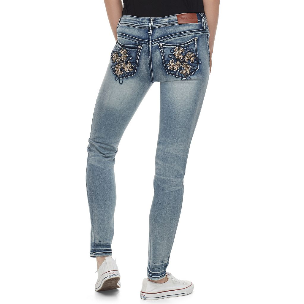 Juniors' Hydraulic Lola Ultra Luxe Light Wash Skinny Jeans