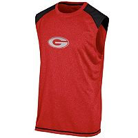 Men's Champion Georgia Bulldogs Colorblock Muscle Tee