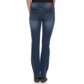 Juniors' Hydraulic Emma Faded Micro Bootcut Jeans