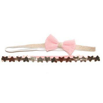 Toddler Girl OshKosh B'gosh® 2-pk. Metallic Bow & Heart Head Wraps