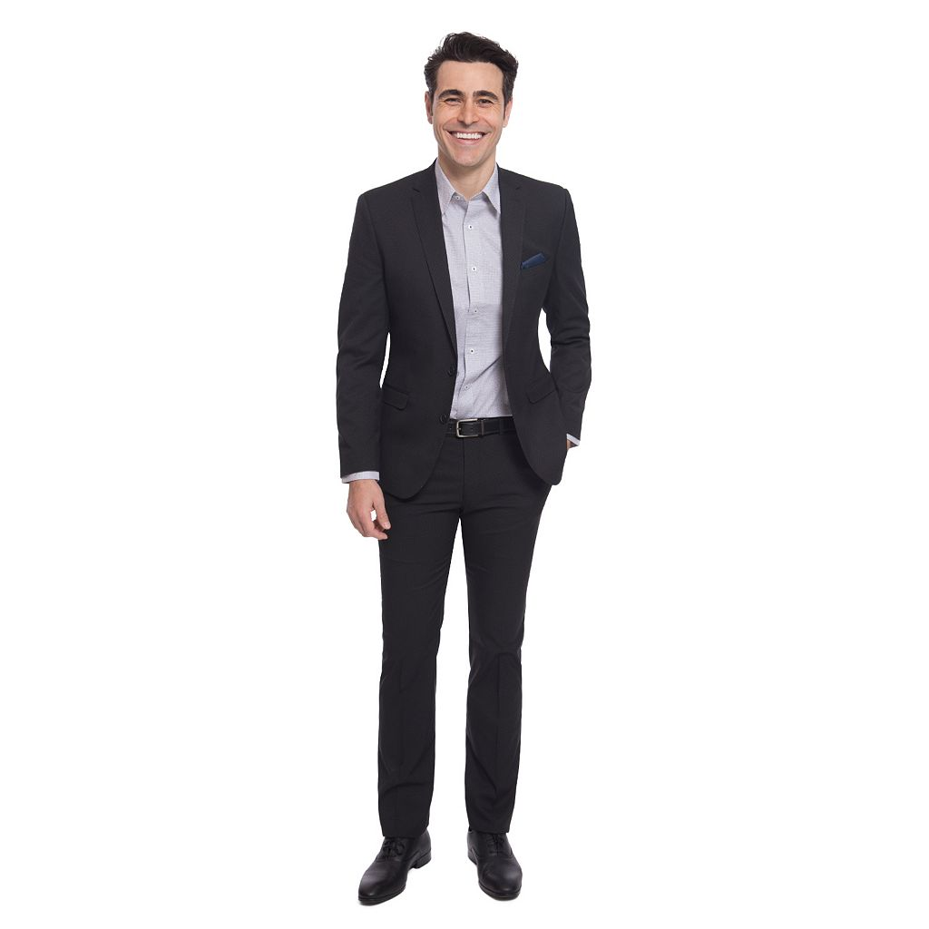 Men's Nick Dunn Modern-Fit Dot Unhemmed Suit