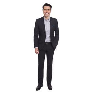 Men's Nick Dunn Modern-Fit Dot Unhemmed Suit