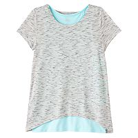 Girls 7-16 & Plus Size Double Layer Tulip Back Tank Top Tee