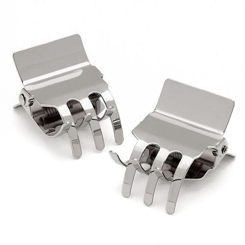 Scunci 2-pk. Silver Tone Jaw Clips