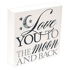 Malden Love You To The Moon Box Sign Wall Decor