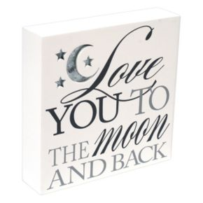 """Malden """"Love You To The Moon"""" Box Sign Wall Decor"""