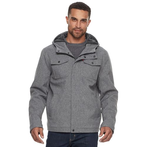 Men's Levi's® Sherpa-Lined Softshell Trucker Jacket