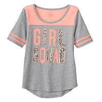 Girls 7-16 & Plus Size SO® Sequin Graphic Varsity Tee