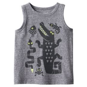 Baby Boy Jumping Beans® Reptile & Amphibian Graphic Snow Nep Tank Top