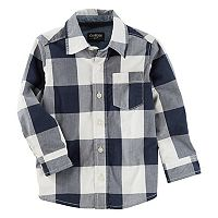 Toddler Boy OshKosh B'gosh® Checked Button Down Shirt