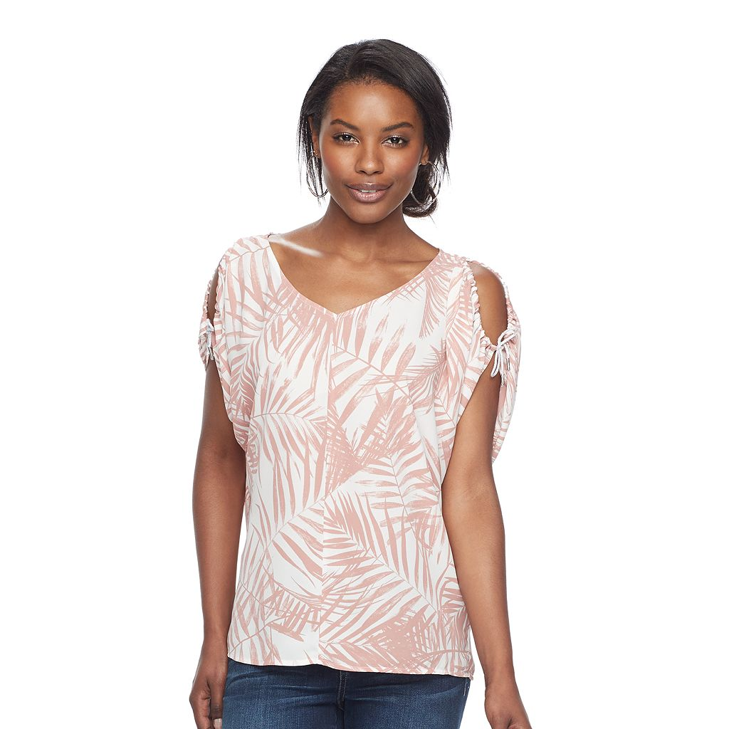 Women's Juicy Couture Print Cold-Shoulder Top