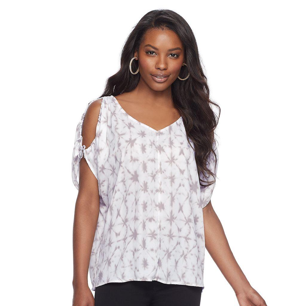 Women's Juicy Couture Print Cold-Shoulder Top