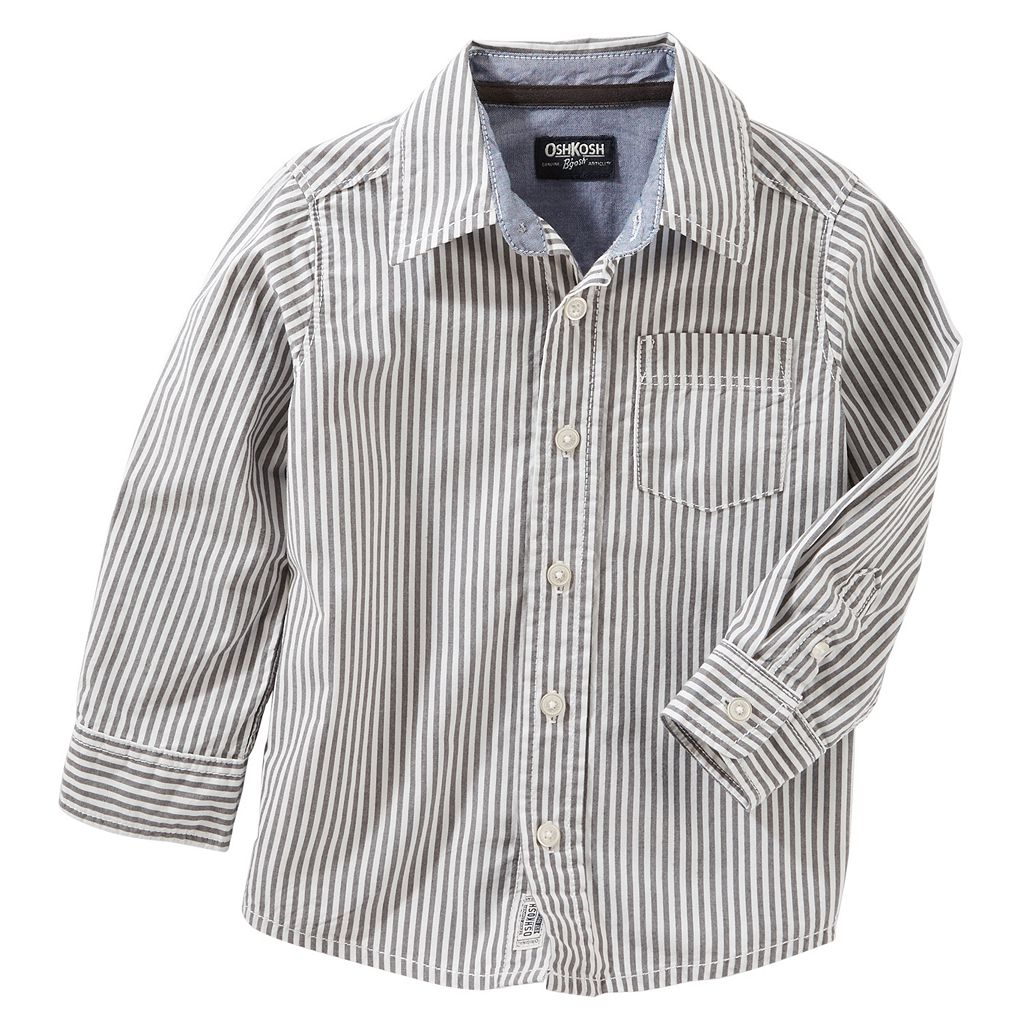 Toddler Boy OshKosh B'gosh® Pin Striped Button Down Shirt