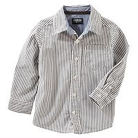 Toddler Boy OshKosh B'gosh® Pin Striped Button Down Shirt