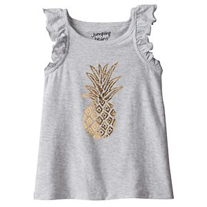 Toddler Girl Jumping Beans® Foiled Pineapple Tank Top