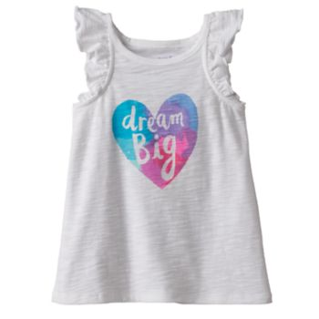 """Toddler Girl Jumping Beans® Slubbed """"Dream Big"""" Graphic Tank Top"""