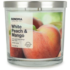 SONOMA Goods for Life™ White Peach & Mango 14-oz. Candle Jar