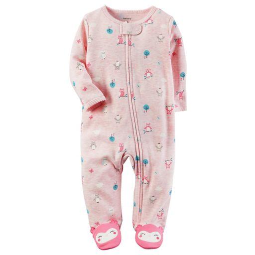 Baby Girl Carter's Owl Applique Sleep & Play