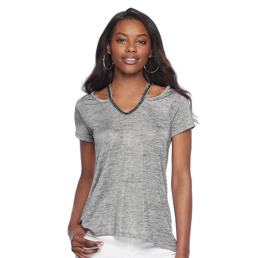 Women's Juicy Couture Embellished Cutout Tee