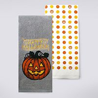 Celebrate Halloween Together Jack O'Lantern Kitchen Towel 2-pk.