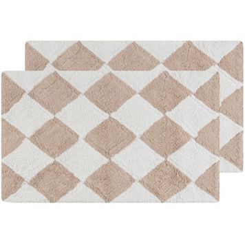Safavieh 2-pack Harlequin Geometric Bath Rug Set - 21'' x 34''
