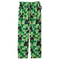 Boys 4-16 Minecraft Creeper Pajama Pants