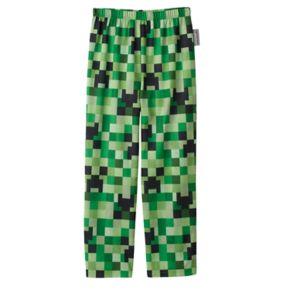 Boys 4-16 Minecraft Creeper Pajama Pants