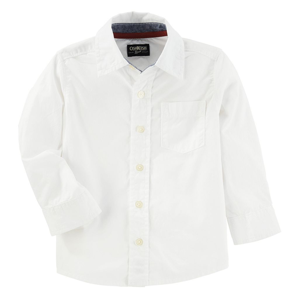 Toddler Boy OshKosh B'gosh® Classic White Button Down Shirt