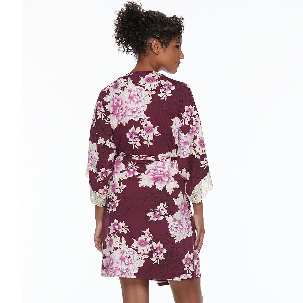Women's Apt. 9® Dressed Up Comfort Floral Wrapper Robe