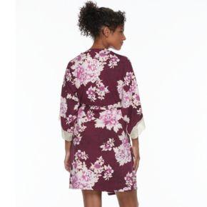 Women's Apt. 9® Dressed Up Comfort Floral Wrapper Robe