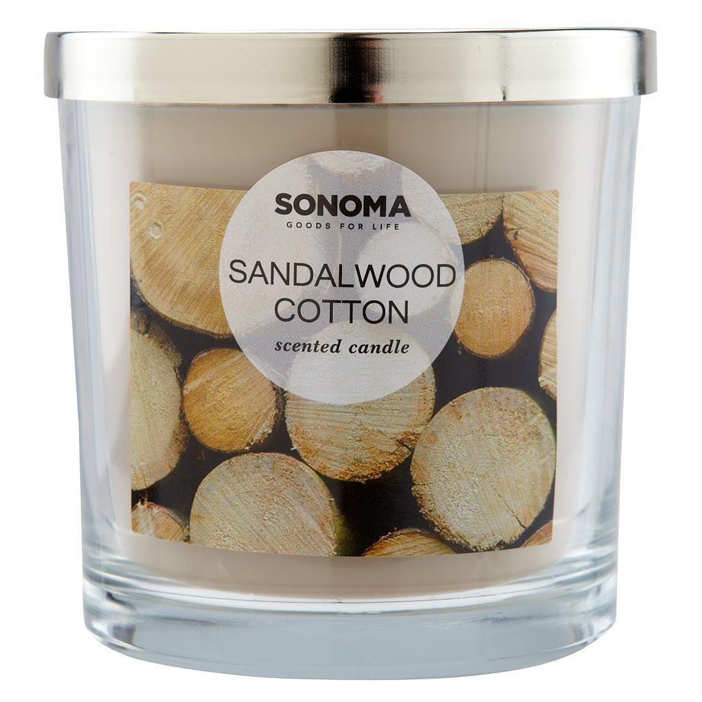 SONOMA Goods for Life™ Sandalwood Cotton 14-oz. Candle Jar
