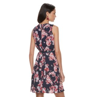 Women's ELLE™ Pleated Fit & Flare Dress
