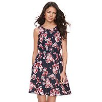 Women's ELLE™ Pleated Fit & Flare Dress