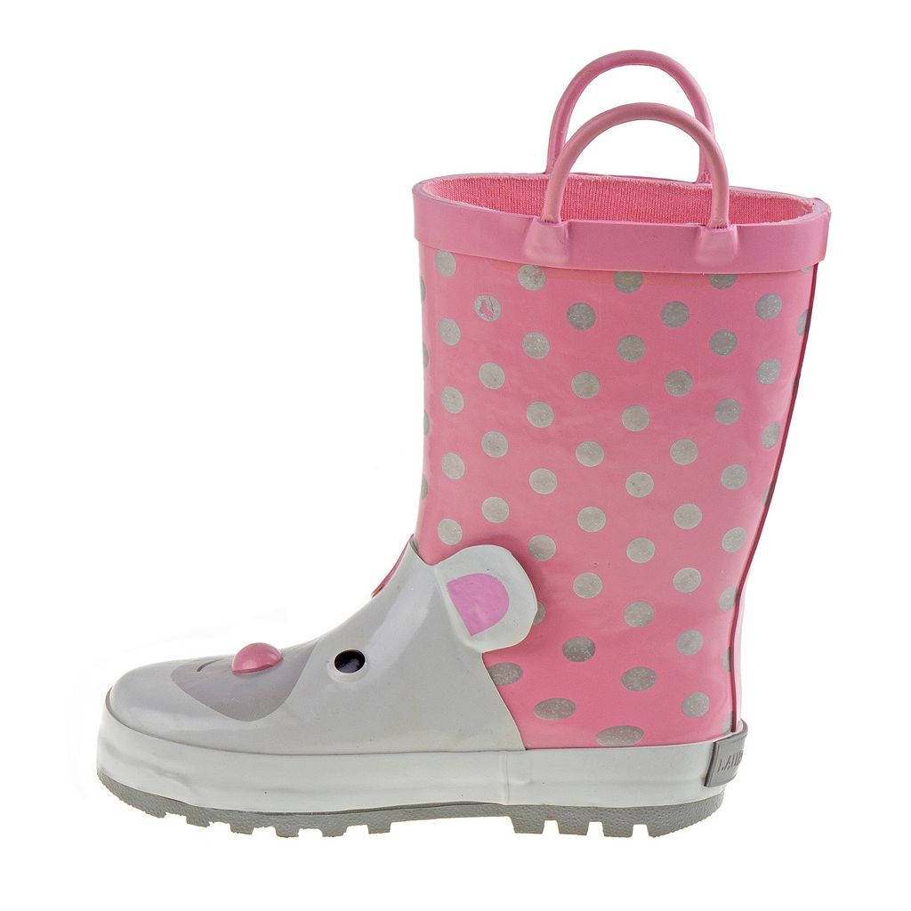 Laura Ashley Toddler Girls' Waterproof Rain Boots