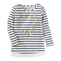 Toddler Girl OshKosh B'gosh® Striped Glitter Heart
