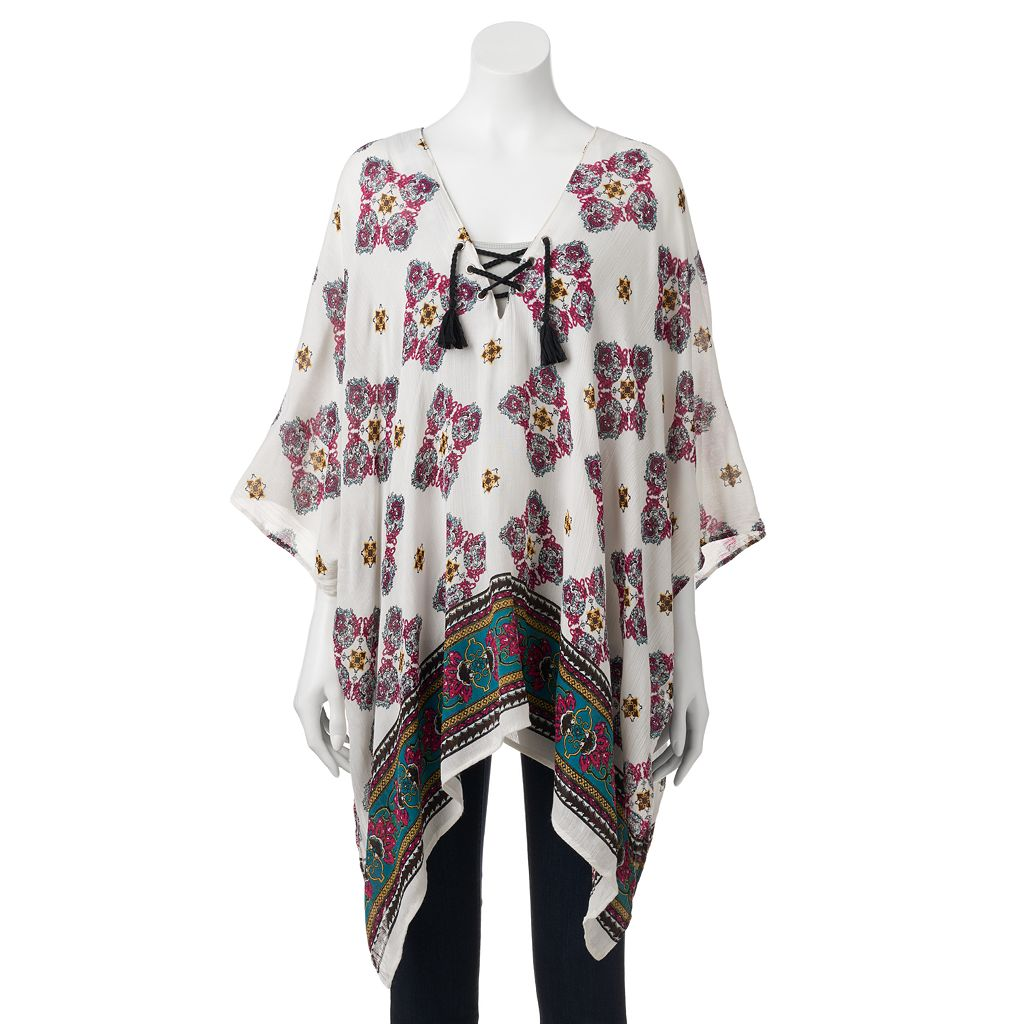 SONOMA Goods for Life™ Paisley Lace-Up Poncho