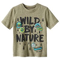 Toddler Boy Jumping Beans® Short Sleeve Embroidered Patch Snow Nep Graphic Tee