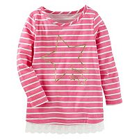 Toddler Girl OshKosh B'gosh® Striped Glitter Star