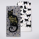 Celebrate Halloween Together Black Cat Hocus Pocus Kitchen Towel 2-pk.