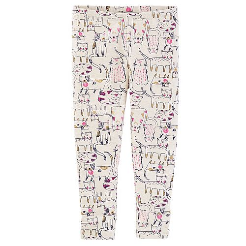 OshKosh BGosh Baby Girls Pull-on Glitter Kitty Cat Leggings