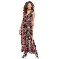 Women's Apt. 9® Faux-Wrap Maxi Dress