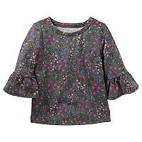 Toddler Girl OshKosh B'gosh® Floral Bell Sleeve Top