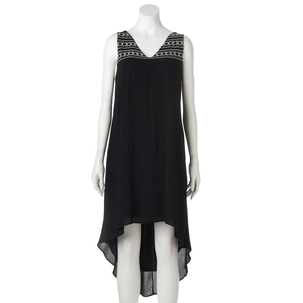 Women's Apt. 9® Embroidered High-Low Shift Dress