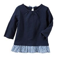 Toddler Girl OshKosh B'gosh® Slubbed Ruffle Peplum Top