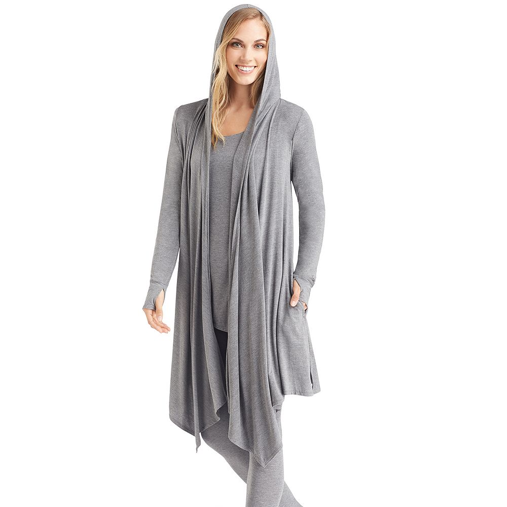 Cuddl Duds Softwear Hooded Wrap Cardigan