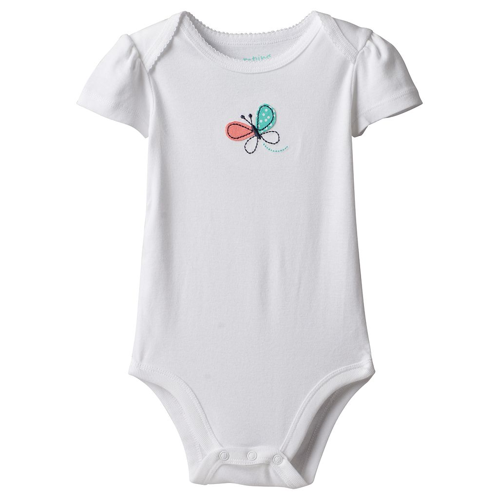 Baby Girl Jumping Beans® Embroidered Graphic Bodysuit