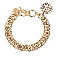 Dana Buchman Openwork Woven Disc Toggle Bracelet