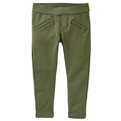 Toddler Girl OshKosh B'gosh® Green French Terry Skinny Pants
