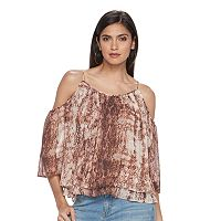 Women's Jennifer Lopez Cold Shoulder Angel Sleeve Top
