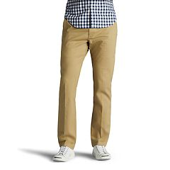 Men's Lee Performance Series Extreme Comfort Khaki Slim-Fit Flat-Front Pants